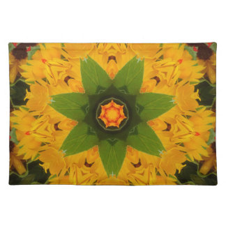 Yellow ray placemat
