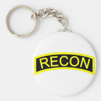 Yellow Recon Tab Keychains
