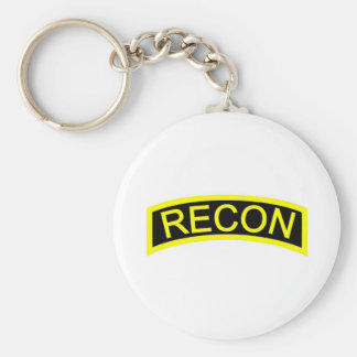 Yellow Recon Tab Keychain