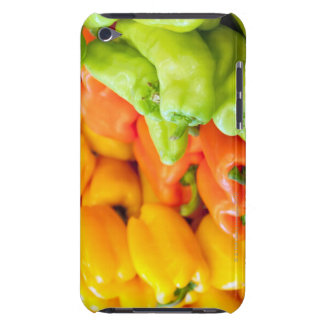 Yellow, red and green pepper on sale at farmer's iPod Case-Mate cases