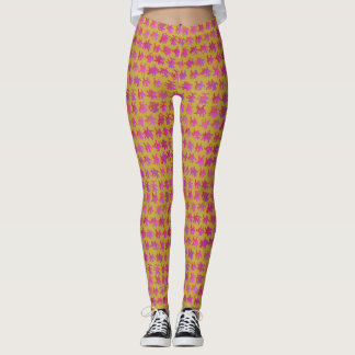 Yellow, Red, and Purple Graffiti Design Leggings