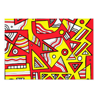 Yellow Red Black Abstract Photographic Print