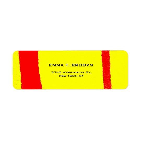 Yellow Red Elegant Modern Plain Minimalist