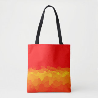 yellow red gradient crystal trendy color tote bag