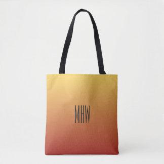 Yellow Red Gradient custom monogram bags