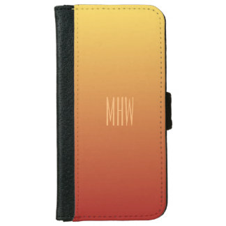 Yellow Red Gradient custom monogram phone wallets