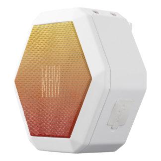 Yellow Red Gradient custom monogram speaker