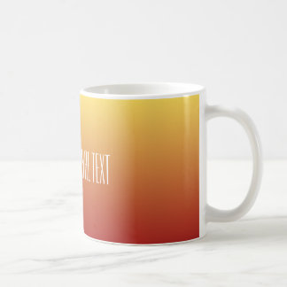 Yellow Red Gradient custom text mugs