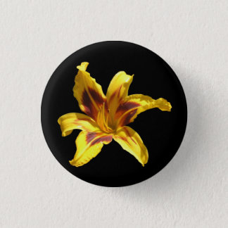 Yellow & Red Lily Button
