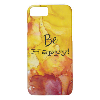 Yellow Red Orange Watercolor Phone Case Be Happy