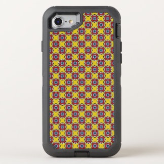 Yellow Red  Pattern OtterBox Defender iPhone 8/7 Case