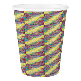 yellow red stripe paper cup