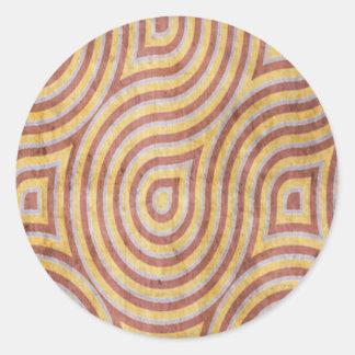 Yellow Red Swirl Grunge Sticker