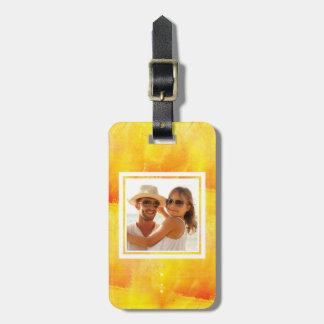 Yellow & Red Watercolor | Add your Name Luggage Tag