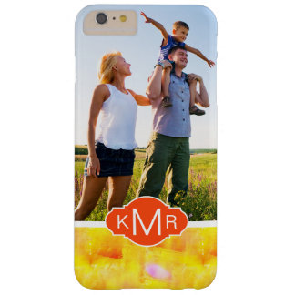 Yellow & Red Watercolor | Monogram Barely There iPhone 6 Plus Case