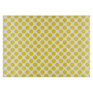 Yellow Retro Colorful Modern Polka Dots Cutting Board