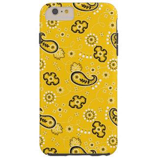 Yellow Retro Paisley Bandanna/Bandana Tough iPhone 6 Plus Case