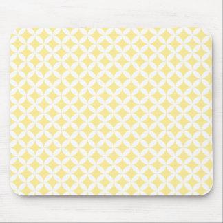 Yellow Retro pattern mousepad