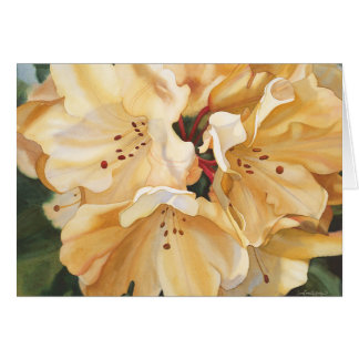 Yellow rhododendron Birthday Card