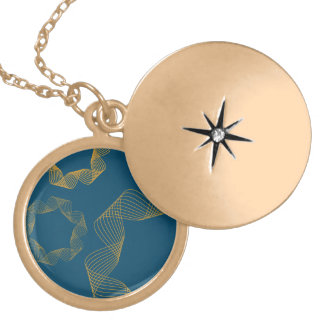yellow ribbon and blue background pendant