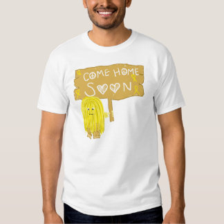 Yellow Ribbon Come Home Soon Tees