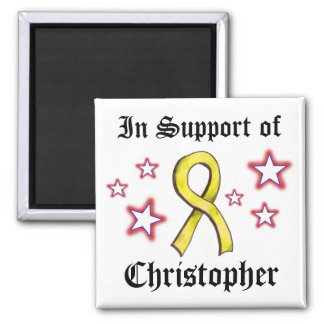 Yellow Ribbon - in Support Square Magnet