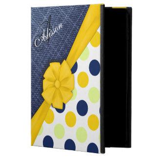 Yellow Ribbon, Jeans Fabric, Dots Pattern Monogram Powis iPad Air 2 Case