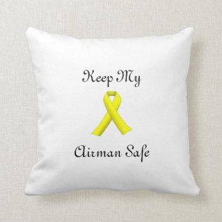 yellow ribbon keep my airman safe pillow throw cushions