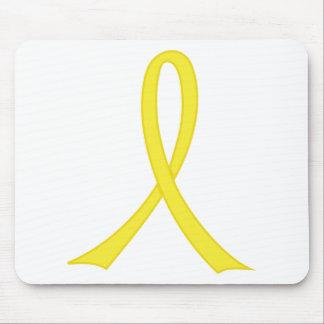 Yellow Ribbon Mouse Pad