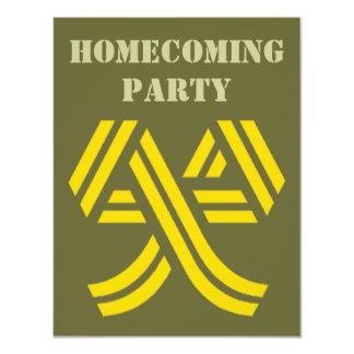 Yellow Ribbon on Army Green Homecoming Invitations