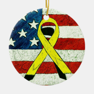 Yellow Ribbon Ornament