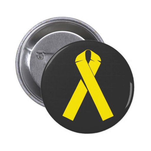 Yellow Ribbon Products and Apparel Pinback Buttons