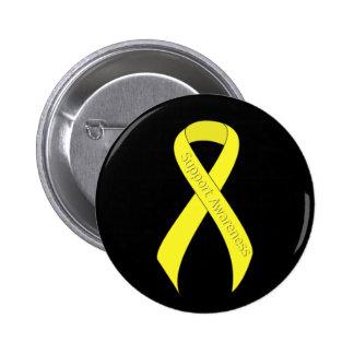 Yellow Ribbon Support Awareness 6 Cm Round Badge