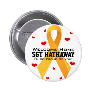 Yellow Ribbon: White 6 Cm Round Badge