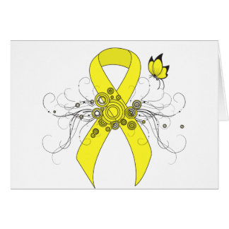 Yellow Ribbon with Butterfly Card