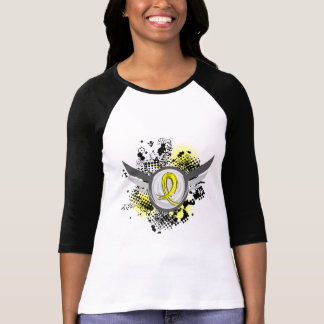 Yellow Ribbon With Wings Endometriosis T-Shirt
