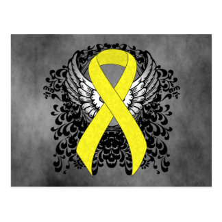Yellow Ribbon with Wings Postcard