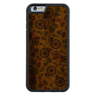 Yellow road bikes carved walnut iPhone 6 bumper case
