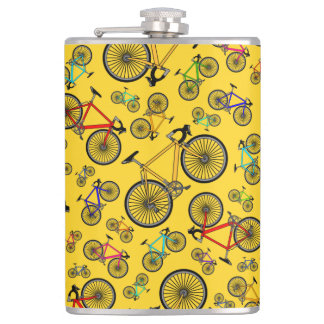 Yellow road bikes hip flask