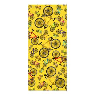 Yellow road bikes customized rack card