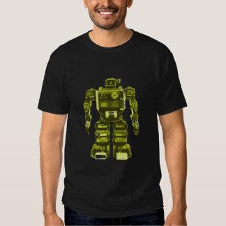 Yellow Robot on Black - Sci-Fi Geek Chic Tees