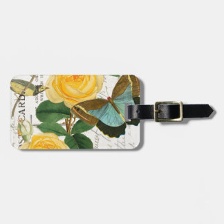 Yellow Romantic Roses Bag Tag