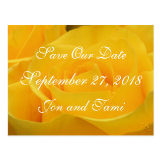 Yellow Rose 1915 Save the Date or any occasion Postcard