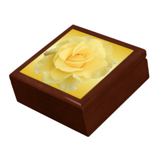 Yellow Rose #3 Jewelry/Keepsake Box