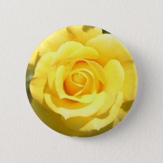 Yellow Rose 6 Cm Round Badge