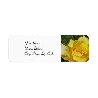 Yellow Rose address lables Return Address Label