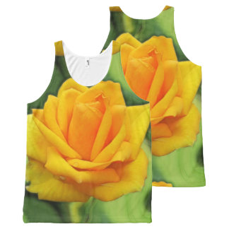 Yellow Rose All-Over Print Tank Top