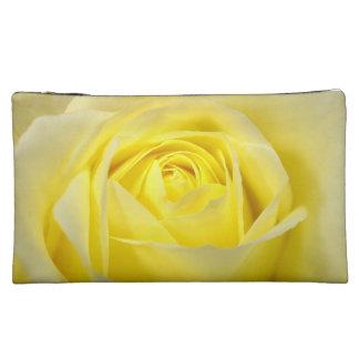 Yellow Rose Makeup Bag