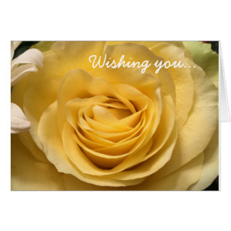 Yellow Rose Birthday Card