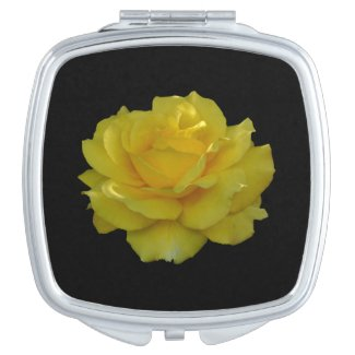 Yellow Rose Bloom Compact Mirror